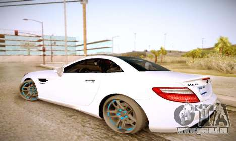 Mercedes Benz SLK55 AMG 2011 für GTA San Andreas linke Ansicht