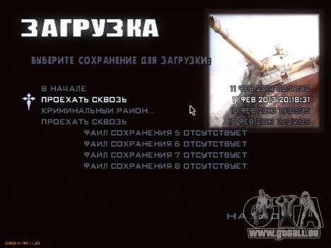 Menu de World of Tanks pour GTA San Andreas quatrième écran