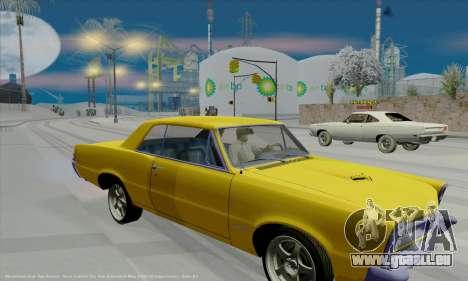 Pontiac GTO 1965 pour GTA San Andreas vue intérieure