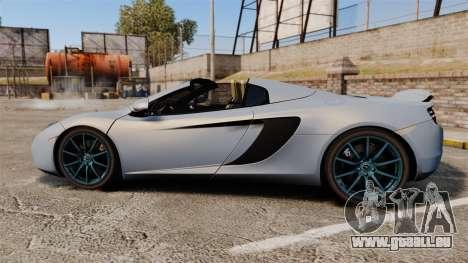 McLaren MP4-12C Spider 2013 pour GTA 4 est une gauche