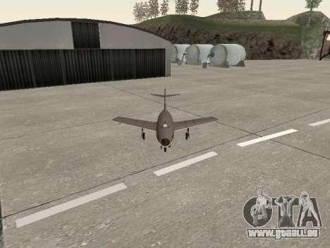 MiG 15 Bis pour GTA San Andreas vue arrière