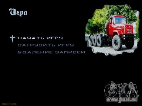 Boot-screens sowjetischen LKW für GTA San Andreas siebten Screenshot