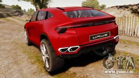 Lamborghini Urus LP840 2015 pour GTA 4 Vue arrière de la gauche