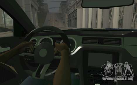Ford Mustang 2013 - Need For Speed Movie Edition pour GTA San Andreas vue arrière