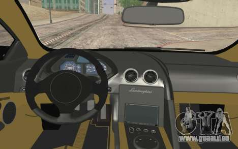 Lamborghini Reventon Police Car für GTA San Andreas zurück linke Ansicht