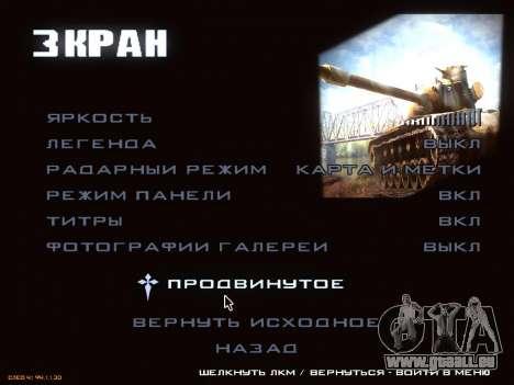 Menu de World of Tanks pour GTA San Andreas cinquième écran