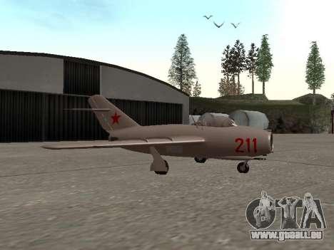 MiG 15 Bis für GTA San Andreas