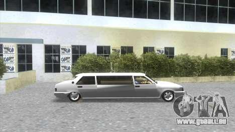 Tofaş Limousinenservice für GTA Vice City zurück linke Ansicht
