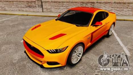 Ford Mustang GT 2015 v2.0 pour GTA 4 est une vue de dessous
