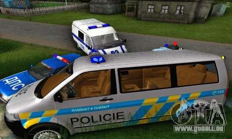Volkswagen Transporter Policie pour GTA San Andreas vue arrière