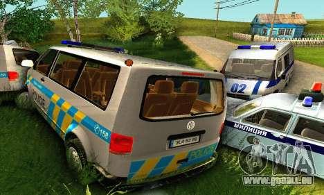 Volkswagen Transporter Policie pour GTA San Andreas vue de dessous