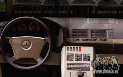 Mercedes-Benz S500 w140 pour GTA San Andreas sur la vue arrière gauche