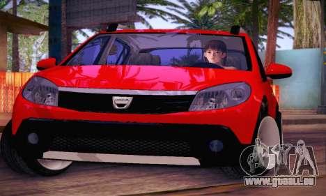 Dacia Sandero für GTA San Andreas Seitenansicht