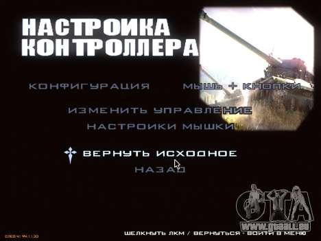 Menu de World of Tanks pour GTA San Andreas septième écran