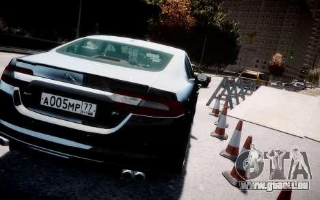 Jaguar XF-R 2012 v1.2 pour GTA 4 est une vue de l'intérieur