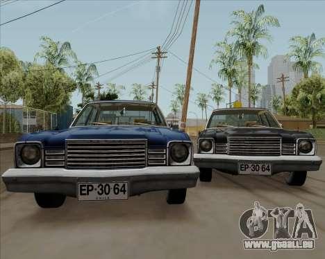 Dodge Aspen pour GTA San Andreas vue de droite