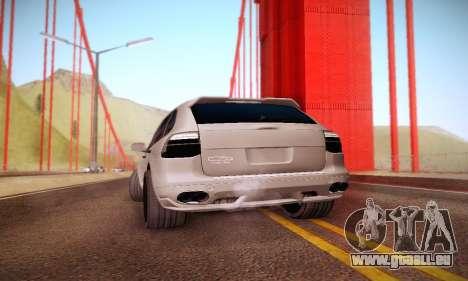 Porsche Cayenne für GTA San Andreas Rückansicht