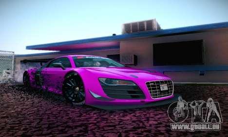 Audi R8 LMS Ultra v1.0.0 pour GTA San Andreas laissé vue