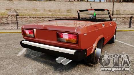VAZ-2107 Donk Style pour GTA 4 Vue arrière de la gauche