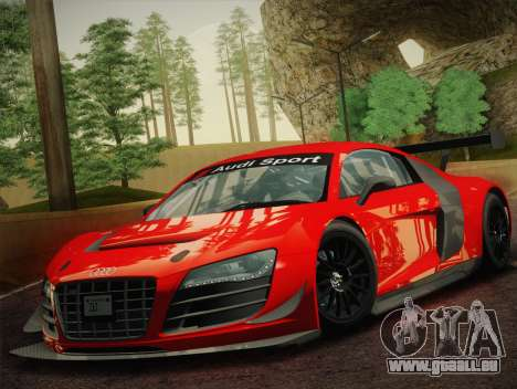 Audi R8 LMS Ultra W-Racing Team Vinyls für GTA San Andreas linke Ansicht
