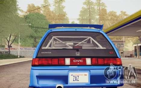 Honda Civic S 1986 IVF pour GTA San Andreas vue de dessous