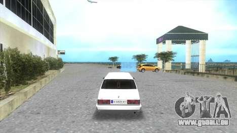 Service de Limousine Tofaş pour une vue GTA Vice City de la gauche