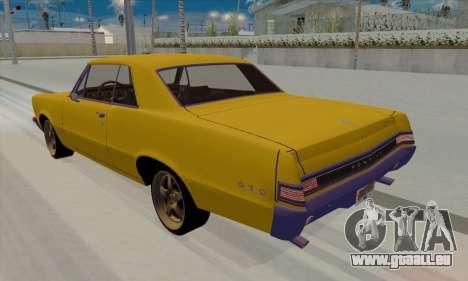 Pontiac GTO 1965 pour GTA San Andreas laissé vue