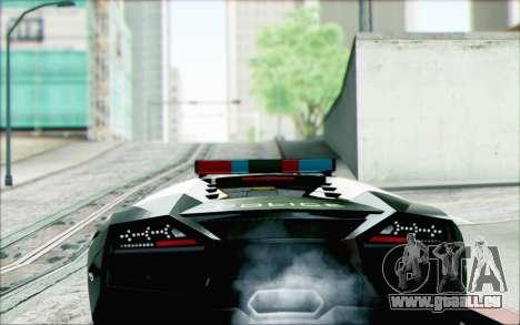 Lamborghini Reventon Police Car für GTA San Andreas linke Ansicht