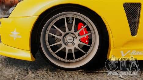 Toyota Supra 1994 (Mark IV) Slap Jack pour GTA 4 Vue arrière