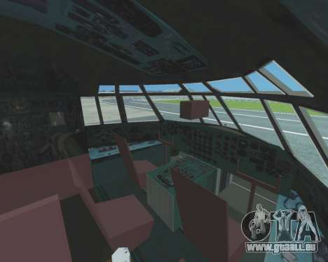 Il-76TD Aviacon zitotrans pour GTA San Andreas vue intérieure