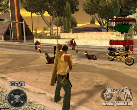 C-HUD Grove St pour GTA San Andreas