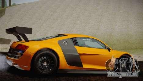 Audi R8 LMS Ultra Old Vinyls für GTA San Andreas rechten Ansicht