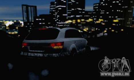 Audi Q7 für GTA San Andreas Innenansicht