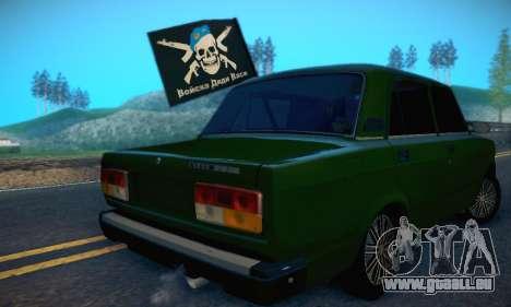 VAZ 2107 VDV pour GTA San Andreas vue arrière