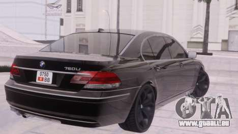 BMW 750Li E66 für GTA San Andreas Seitenansicht
