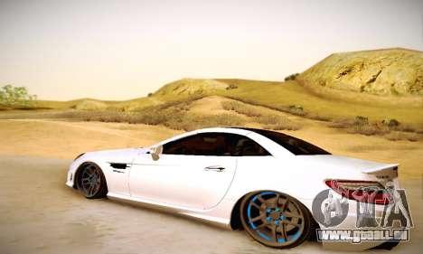 Mercedes Benz SLK55 AMG 2011 für GTA San Andreas zurück linke Ansicht