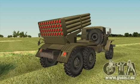 URAL 375 BM-21 pour GTA San Andreas laissé vue