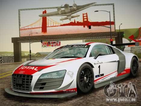 Audi R8 LMS Ultra W-Racing Team Vinyls für GTA San Andreas Innenansicht