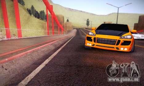 Porsche Cayenne pour GTA San Andreas vue de côté