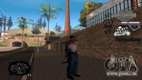 C-Hud Heavy Metal pour GTA San Andreas deuxième écran