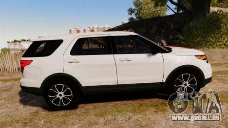 Ford Explorer Sport 2014 pour GTA 4 est une gauche