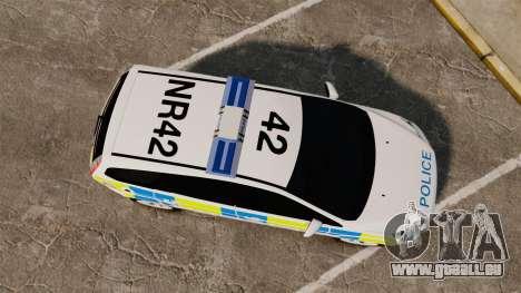 Ford Focus Estate Essex Police [ELS] pour GTA 4 est un droit