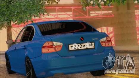 BMW 330i pour GTA San Andreas vue arrière