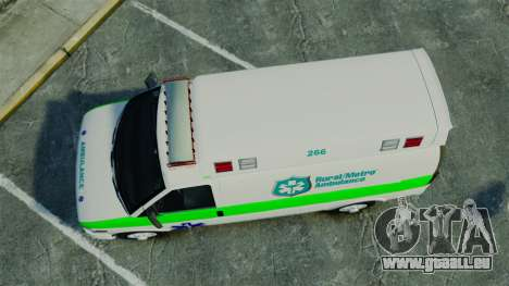Vapid Speedo Rural Metro EMS [ELS] für GTA 4 rechte Ansicht