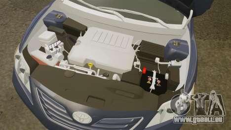 Toyota Camry pour GTA 4 est une vue de l'intérieur