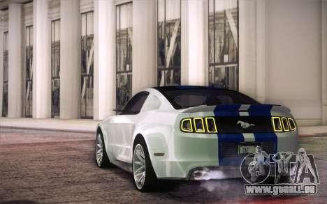 Ford Mustang 2013 - Need For Speed Movie Edition für GTA San Andreas zurück linke Ansicht