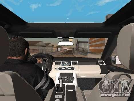 Range Rover Sport 2011 pour GTA San Andreas vue intérieure