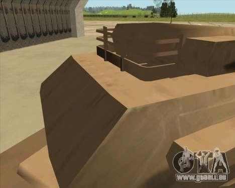 Rhino Mark.VI pour GTA San Andreas vue arrière