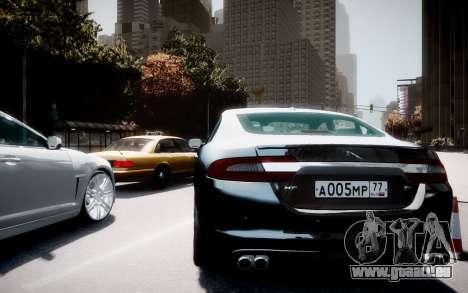 Jaguar XF-R 2012 v1.2 pour GTA 4 Vue arrière de la gauche