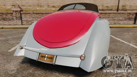 Ford Roadster 1936 Chip Foose 2006 für GTA 4 hinten links Ansicht